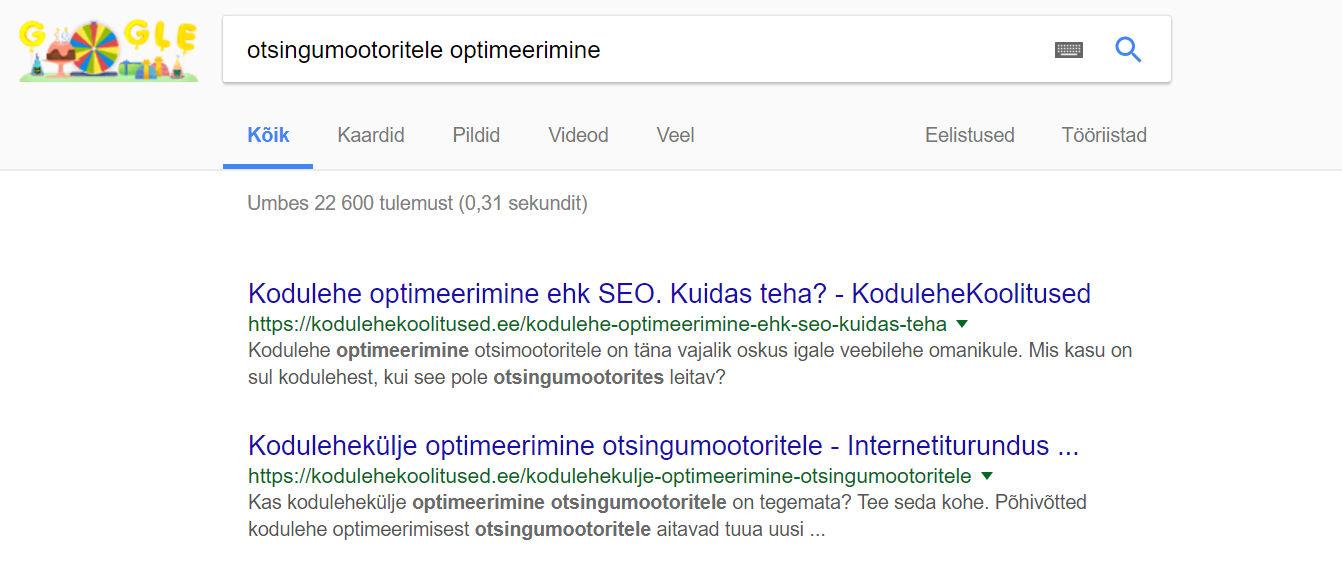 veebilehe optimeerimine