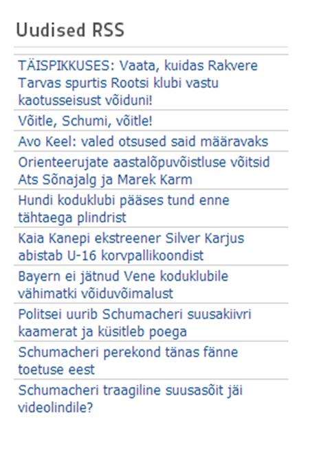 Joomla - RSS-vood