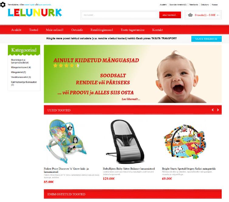 lelunurk.ee - OpenCart e-pood