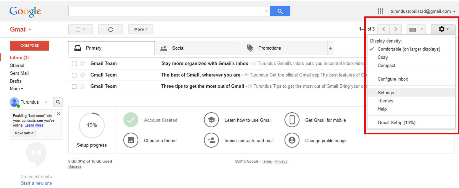 Gmaili_seadete_muutmine