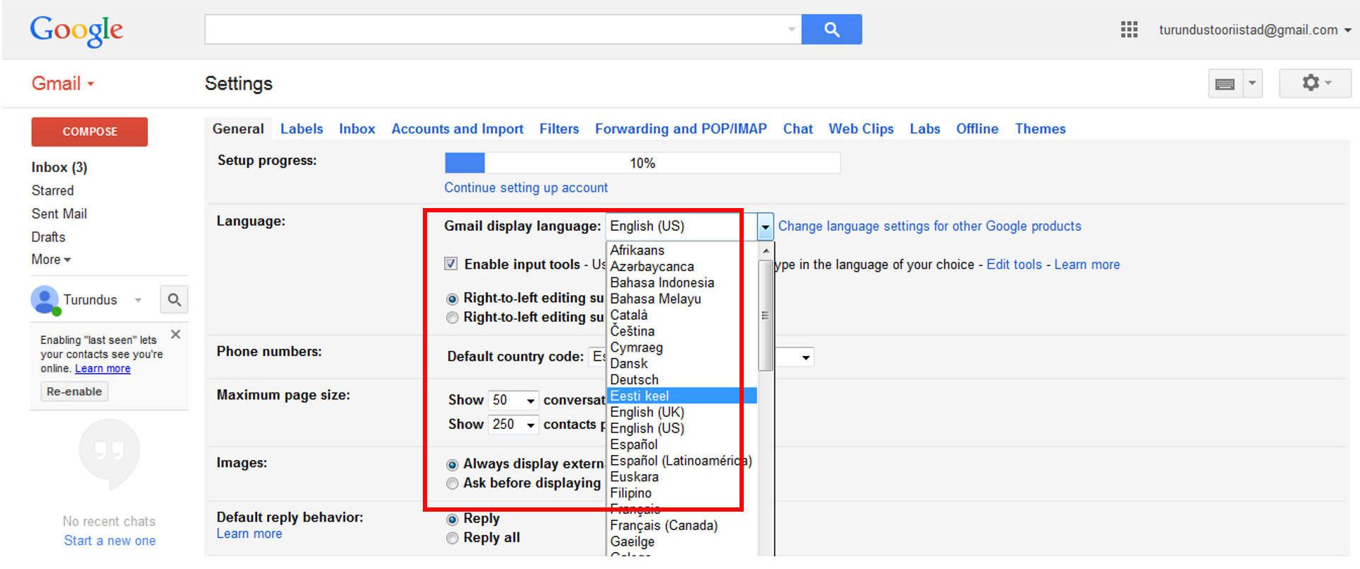 Gmailis_keele_muutmine