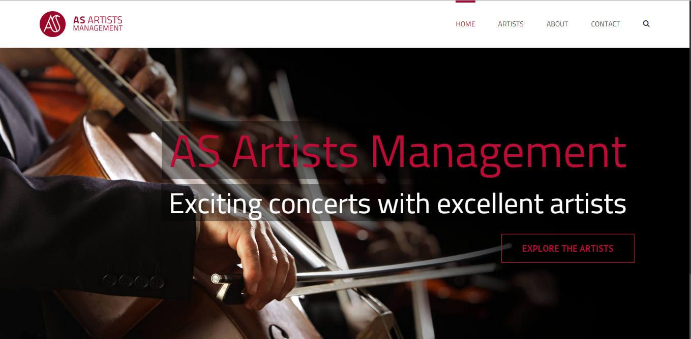 Artists Managment koduleht valmis kodulehe koolitustel