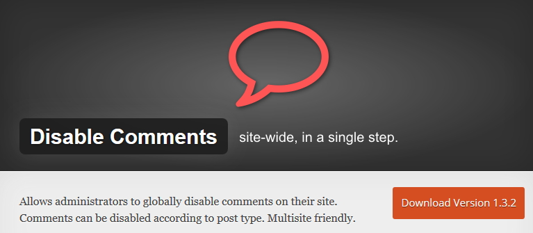 Disable Comments_WordPress Plugin