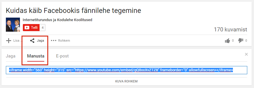 Video Levitamine embed koodiga