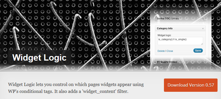 Widget Logic_WordPress Plugin