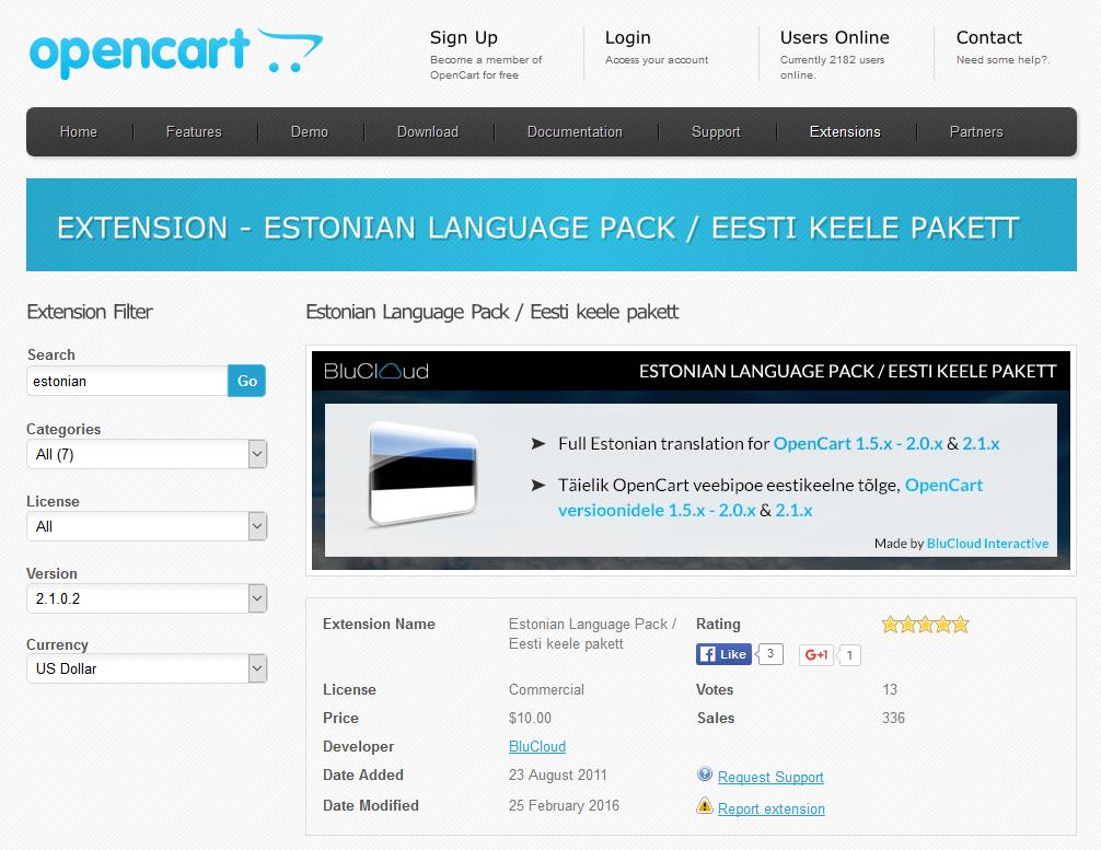 OpenCarti eestistamine