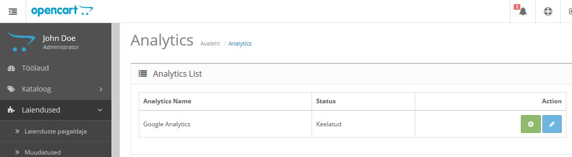 OpenCart_Google Analytics_1