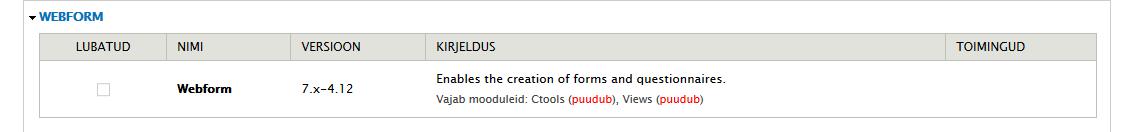 drupali_opetus_webform_veateade