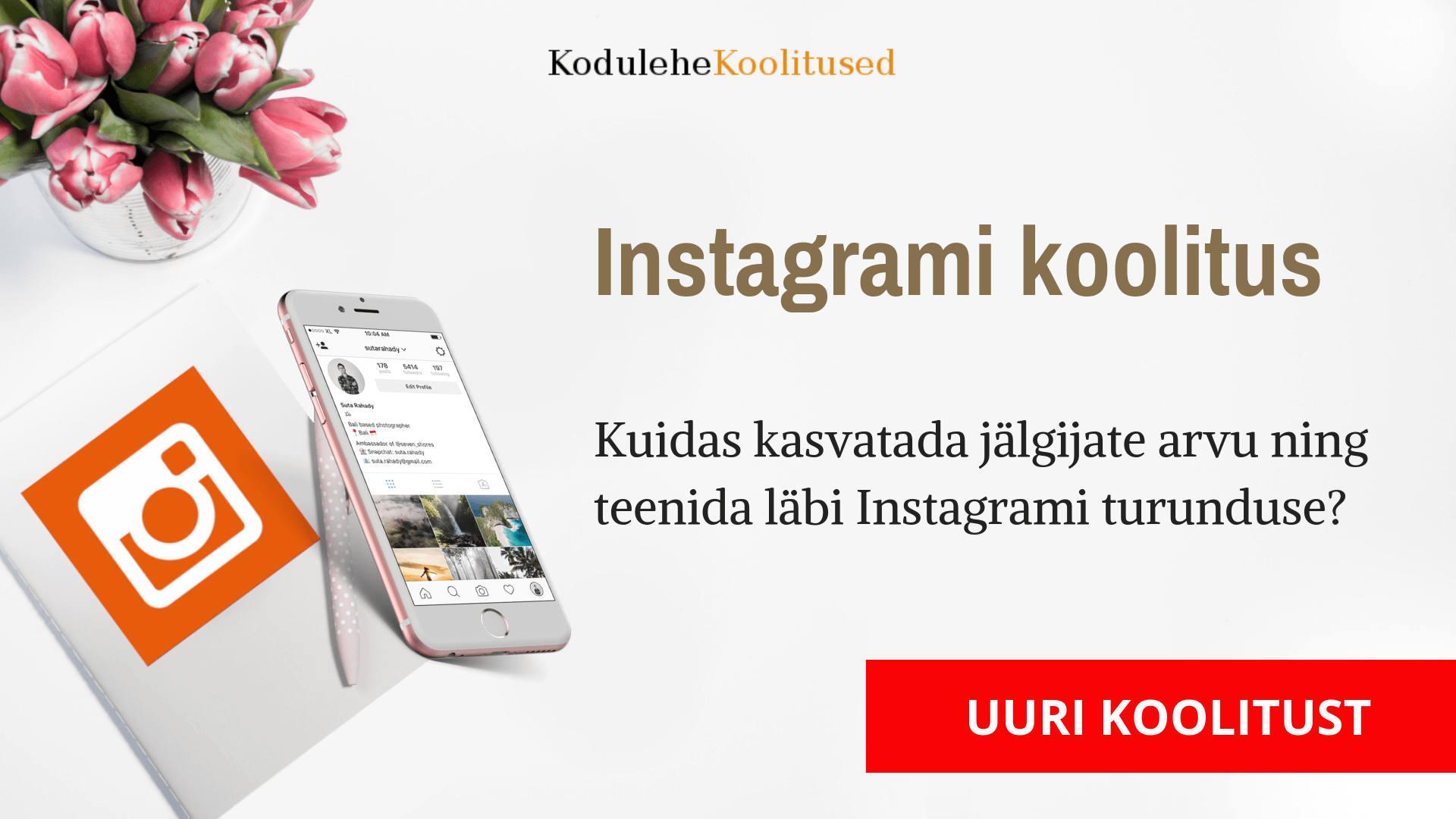 Instagrami turundus koolitus