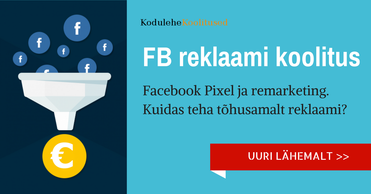 Facebook pixel ja remarketing