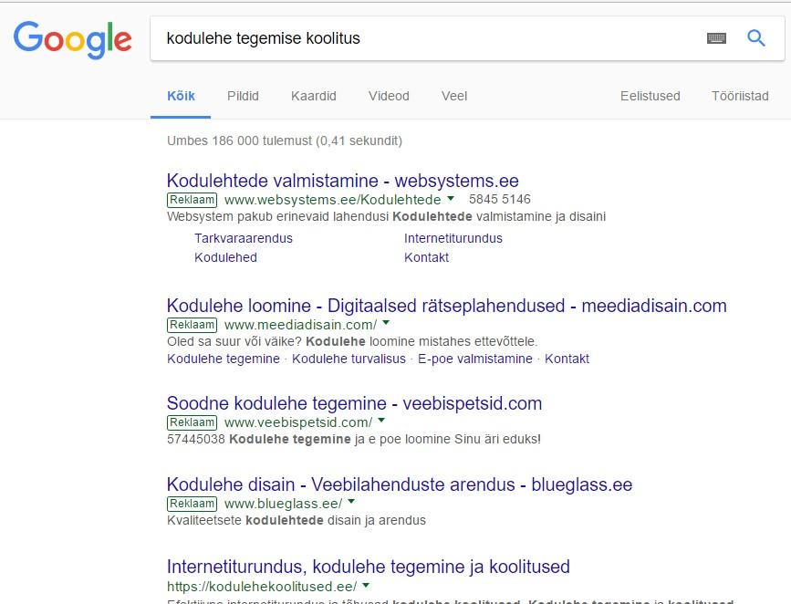 Halb Google Adsi reklaam