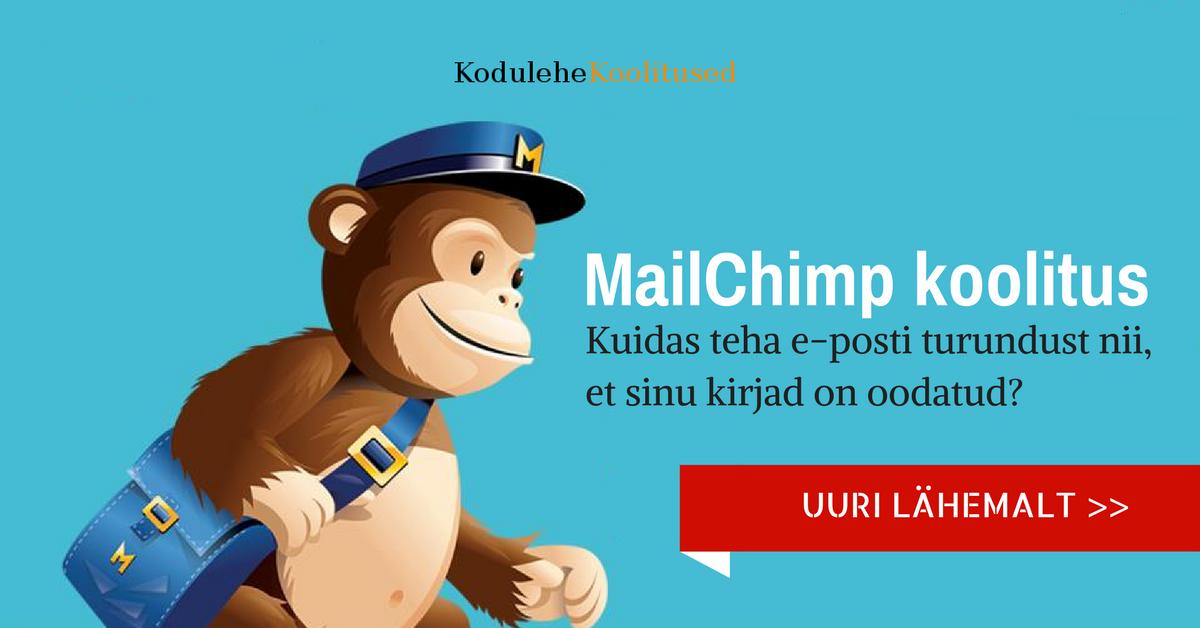 MailChimp koolitused