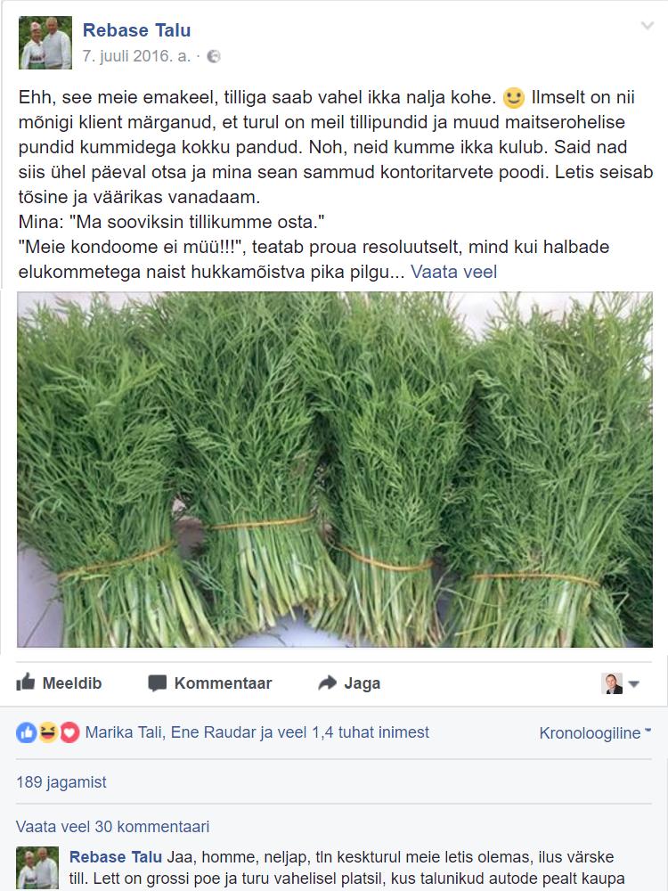 Rebase talu FB postitus