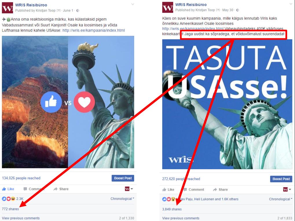 Suuna FB-s tegevusele