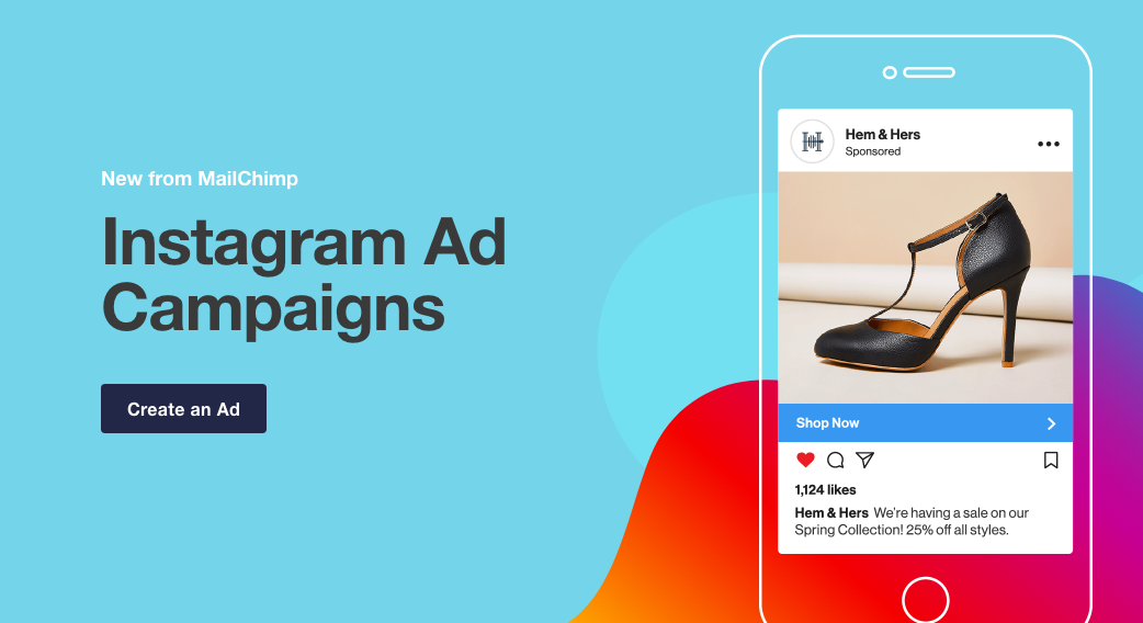 Mailchimp ja instagram reklaam