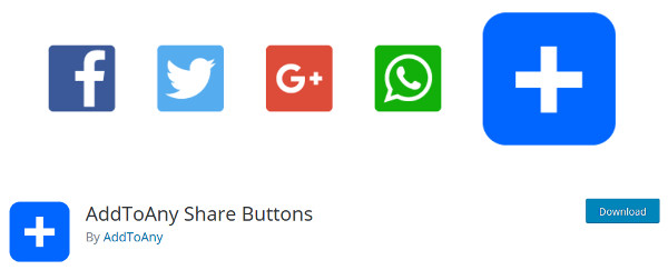 AddToAny Share Buttons plugin