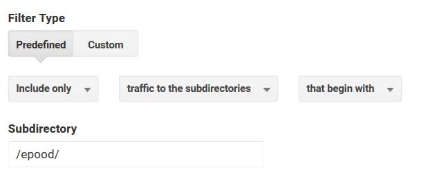 Google Analyticsi filtri loomine