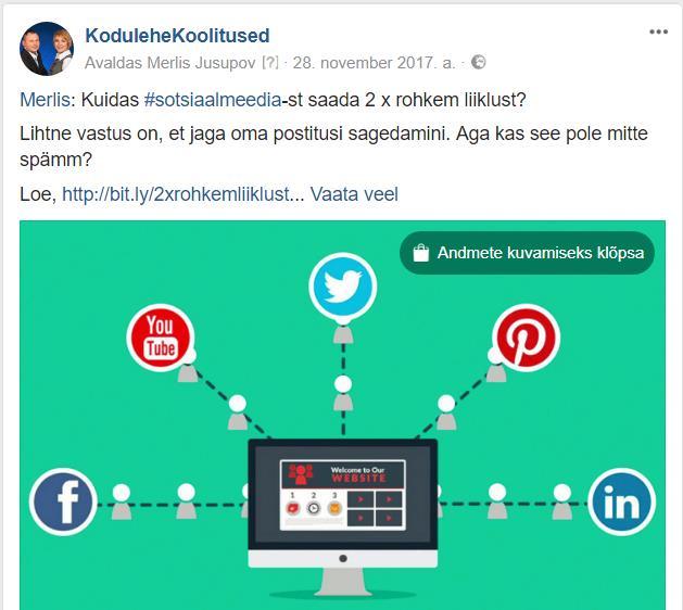 Facebooki postitus