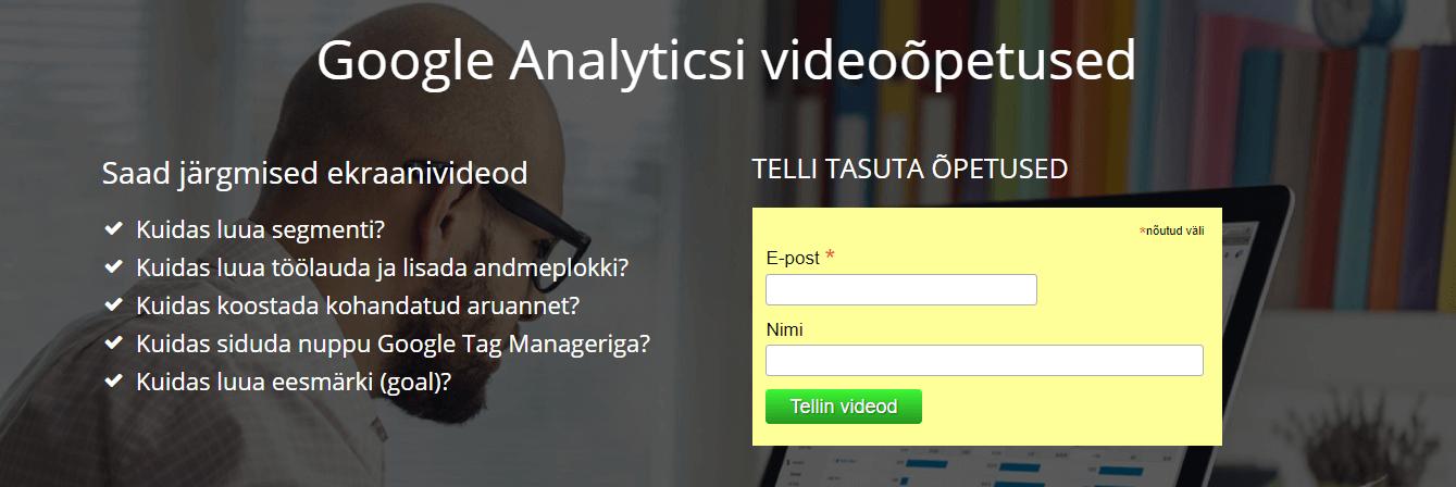 Google Analytics õpetus