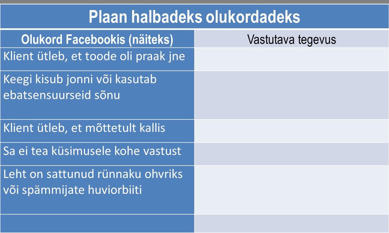 Kriisiplaan sotsiaalmeedias