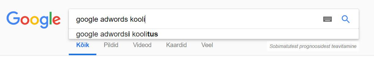 Google Adwords koolitused