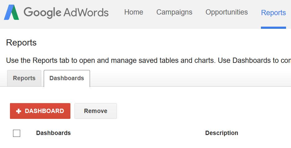 Google Adwordsis töölaua loomine