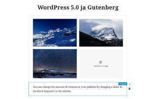 WordPress 5.0 ja Gutenberg