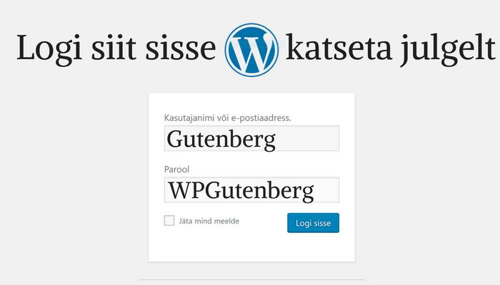 WordPressi haldamine riskivabalt Gutenbergiga