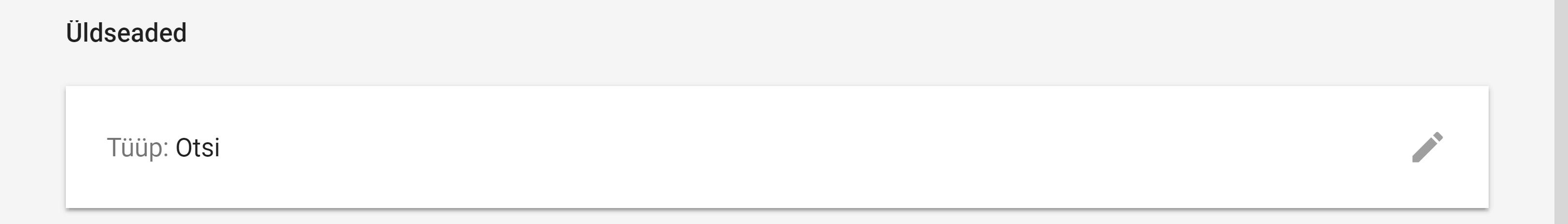 Google Ads Kampaania üldseaded
