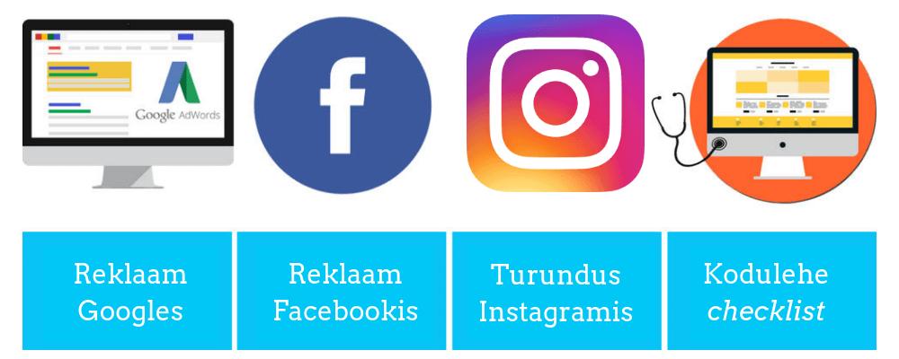 FB koolitus, Google Ads koolitus, Instagrami koolitus, Digiturunduse koolitus
