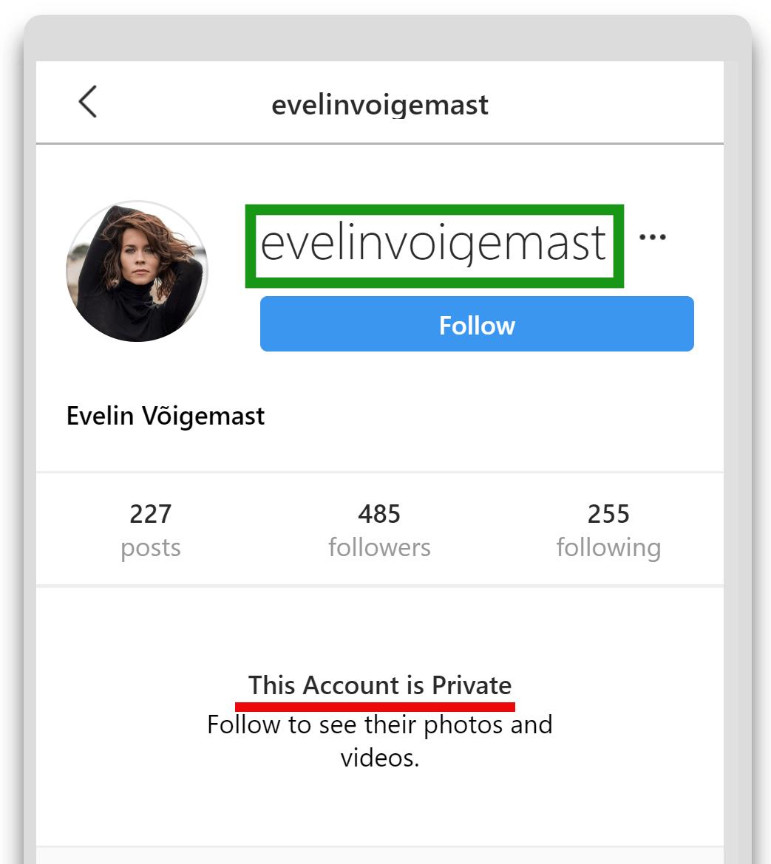 Instagrami username
