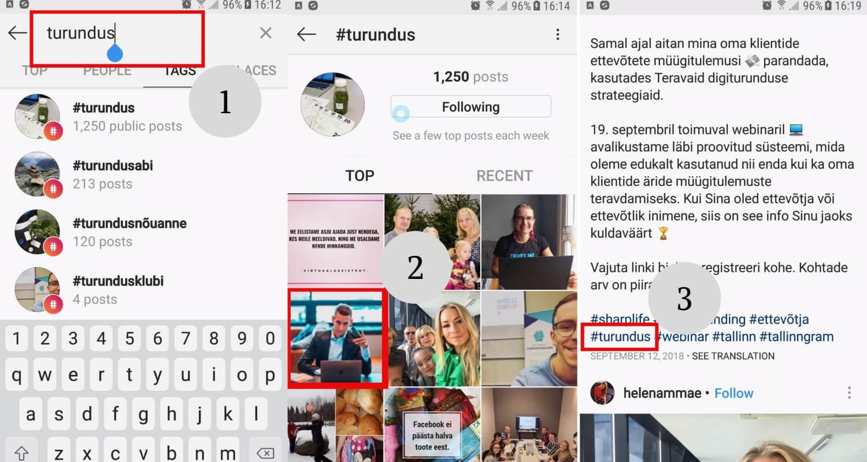 Uuri, mis hashtage kasutavad sinu konkurendid