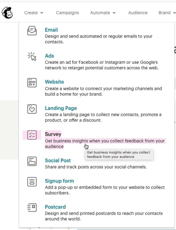 MailChimpis klientide küsitlemine