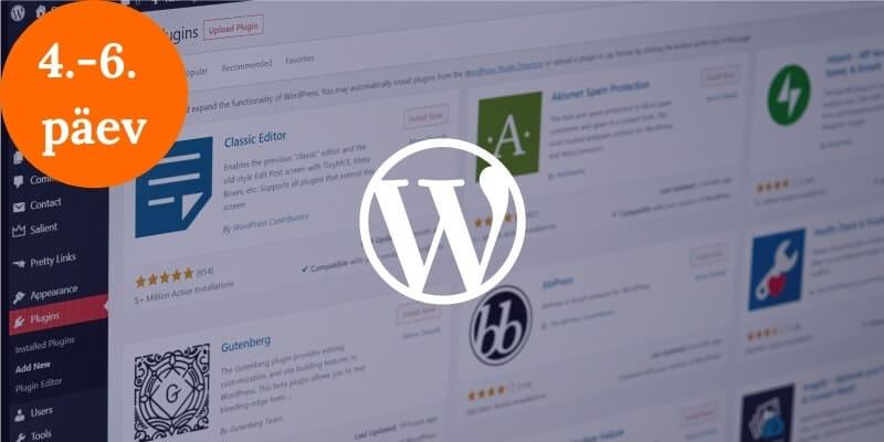 WordPressi koolitus - 4.-6. päev